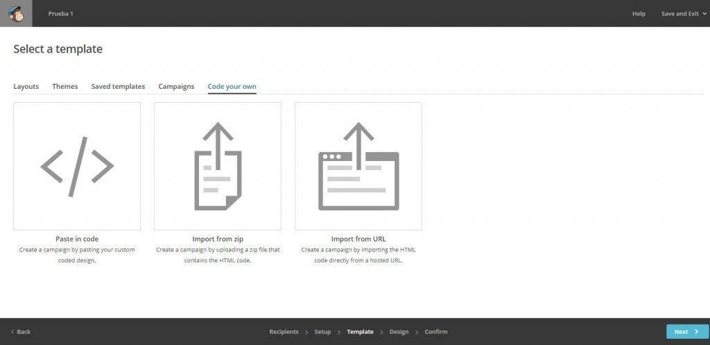 Cómo crear una newsletter en Mailchimp code your own